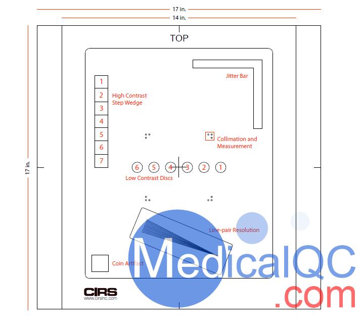 CIRS139701 DR性能模體尺寸